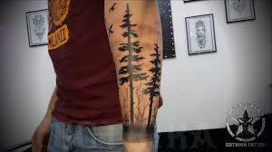 forest sleeve tattoo youtube