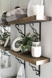 Diy Shelves For Bathroom by Grace Lee Cottage Diy Rustic Bathroom Shelves