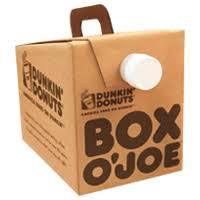 Box Coffee box o joe皰 dunkin donuts