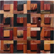 irregular tiles wooden mosaic tiles country style colorful wooden