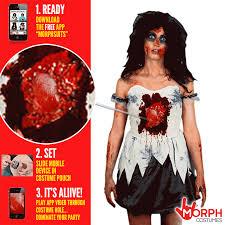 Halloween Costumes Girls Zombie Women U0027s Zombie Beating Heart Costume Morph Costumes Uk
