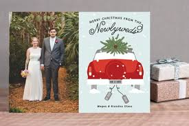 married christmas cards fancy plush design married christmas cards not photo