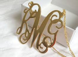 monogram necklace gold large monogram necklace gold katy styles name necklace