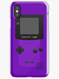 Purple Nintendo Gameboy Color Iphone Cases Skins By Redbubble Gameboy Color