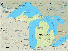 Upper Peninsula Michigan Map by Geographical Map Of Michigan And Michigan Geographical Maps