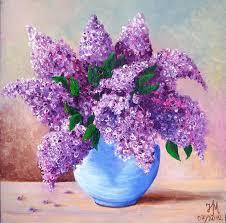 lilac painting by nina mitkova