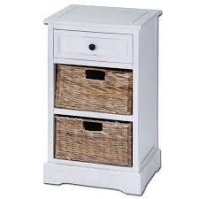 Side Table Designs With Drawers by Amazon Com Urban Designs Malibu 3 Drawer Night Stand With Wicker