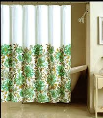 Teal And Beige Curtains Nicole Miller Shower Curtains Shower Curtains Outlet
