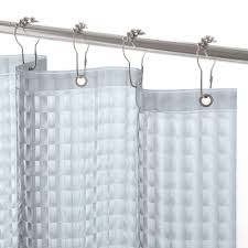 Shower Curtain Liners Kenney Peva 72 In Smoke Medium Weight Embossed Shower Curtain