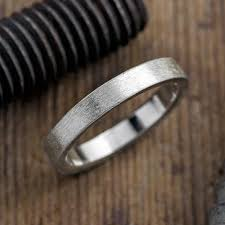 mens wedding bands on 4mm mens wedding band matte brushed point no point studio