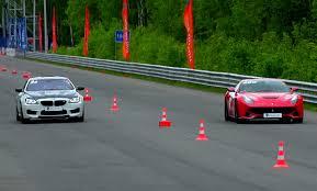 bmw vs audi race bmw m6 vs f12 berlinetta vs bmw m4 vs audi s6