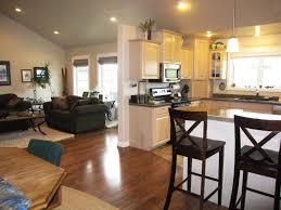 contemporary open floor plans design white open floor plan kitchen and dining room laminate