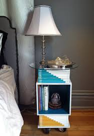 Diy Magazine Wall Art by Modern Nightstand Bed Side Table Diy Made With Old Art Magazines