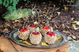 Halloween And Fall Decorations - making faux caramel apples for fall decor house of hawthornes
