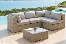 canapé de jardin en résine étourdissant salon de jardin exterieur resine décoration