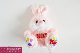 personalized easter bunny craftaholics anonymous dollar store easter craft personalized