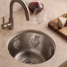 15 inch round copper bar sink with grapes native trails