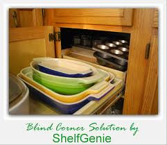 Kitchen Cabinets Corner Solutions Kitchen Blind Corner Solutions From Shelfgenie Of San Antonio For