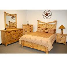 amazon com 4pc solid pine queen size bed complete rustic king size bed modern set fabrizio design convert queen to