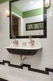 Trough Sink For Bathroom by Drawing Of Small Wall Mounted Sink A Good Choice For Space