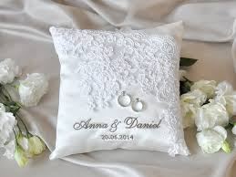ring pillow lace wedding pillow vinateg ring bearer pillow white ring pillow