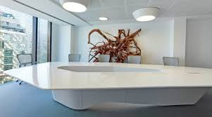 Grey Meeting Table Sophisticated Creative Meeting Room With Cool Conference Table And
