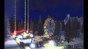 rct3 winter theme park featuring blizzard