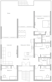 Coastal House Floor Plans by Home Plan Ch466 House Plan