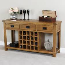 rustic wine cabinets furniture rustic oak buffet with wine rack home pinterest wine rack