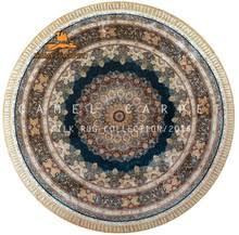 Round Blue Rugs Round Silk Rug Round Silk Rug Direct From Henan Camel Carpet
