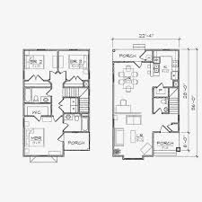 Lake Home Plans Narrow Lot Apartments Floor Plans For Narrow Lots Warm And Open House Plan