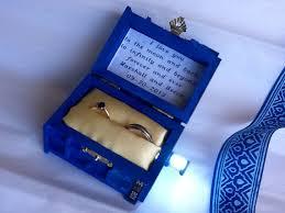 doctor who wedding ring tardis wedding ring box with led light handmade tardis engagement