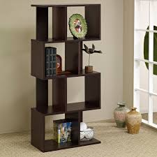 decor carpet flooring with bookcase room divider half wall and