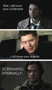 Scream And Shout Meme - destiel meme is a fan girl scream because we all know he