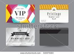 Membership Cards Design Gold Silver Privilege Card Member Template Stock Vector 319373168