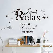 bird wallpaper home decor relax unwind wall quote stickers living room decor butterfly music