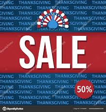 usa thanksgiving day sale banner 50 stock vector