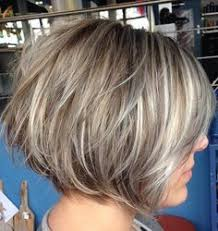 medium length stacked hair cuts image result for transition to grey hair with highlights