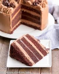 Cake Chocolate Fudge Layer Cake Sundaysupper That Skinny Can Bake