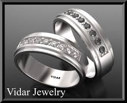 his and hers wedding bands sets his and diamond wedding band set vidar jewelry unique