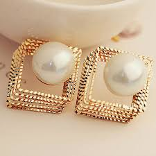 earring design trendy design women s stud earring new arrive square pearl