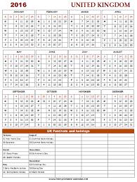 calendar 2016 uk printable calendar template 2018