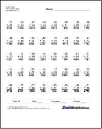 multiplying multi digit numbers worksheet worksheets