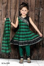 and black color indian kid wedding dress