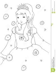 little princess coloring page royalty free stock image image