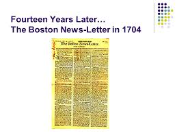 the first newspapers in america ppt video online download