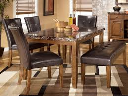 dining room table with chairs and bench kitchen tables ashley