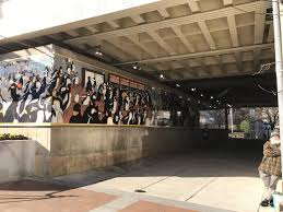 penguins officially return to silver spring bethesda beat the mural wraps around the concrete wall underneath the colesville road rail bridge in downtown silver spring credit andrew metcalf