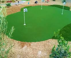 installing putting green cups synthetic grass warehouse