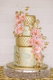 wedding cake gold gold pink metallic wedding cakes of year wedding media